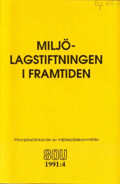 Omslaget till SOU 1991:4