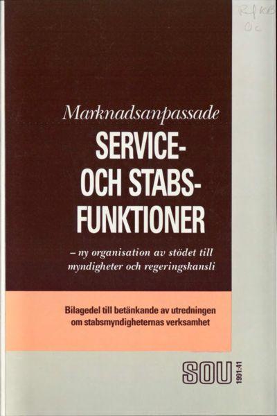 Omslaget till SOU 1991:41