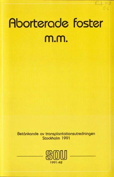 Omslaget till SOU 1991:42