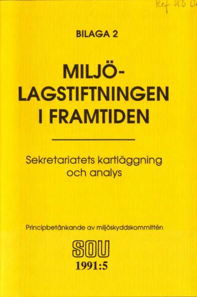 Omslaget till SOU 1991:5