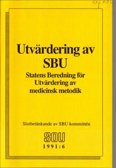 Omslaget till SOU 1991:6