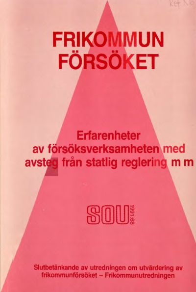 Omslaget till SOU 1991:68