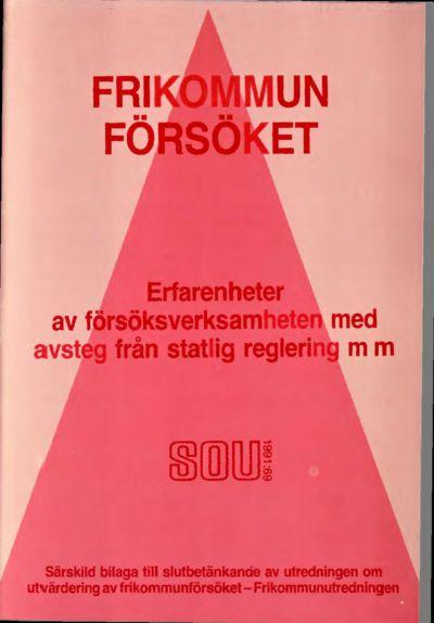Omslaget till SOU 1991:69