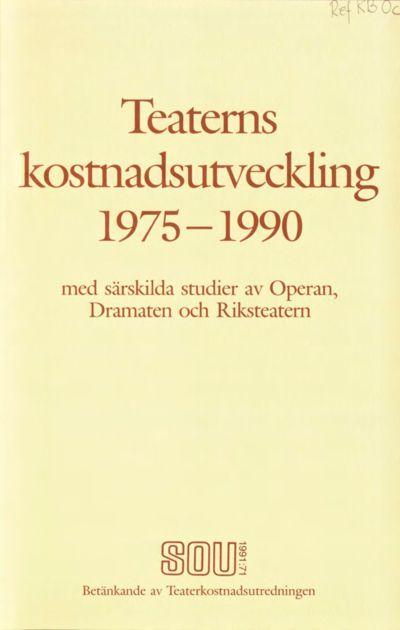 Omslaget till SOU 1991:71