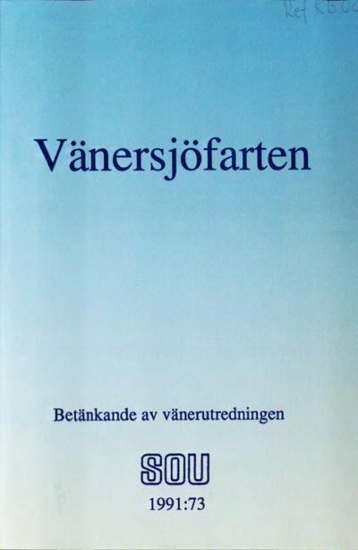 Omslaget till SOU 1991:73