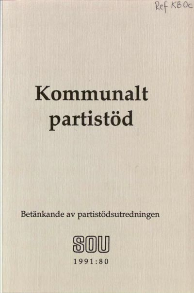 Omslaget till SOU 1991:80
