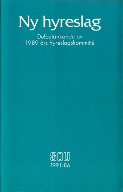 Omslaget till SOU 1991:86