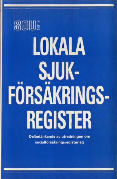 Omslaget till SOU 1991:9
