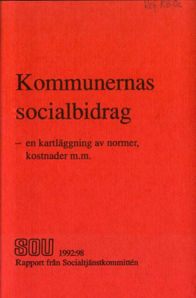 Omslaget till SOU 1992:98