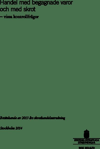 Omslaget till SOU 2014:72