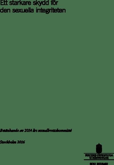 Omslaget till SOU 2016:60
