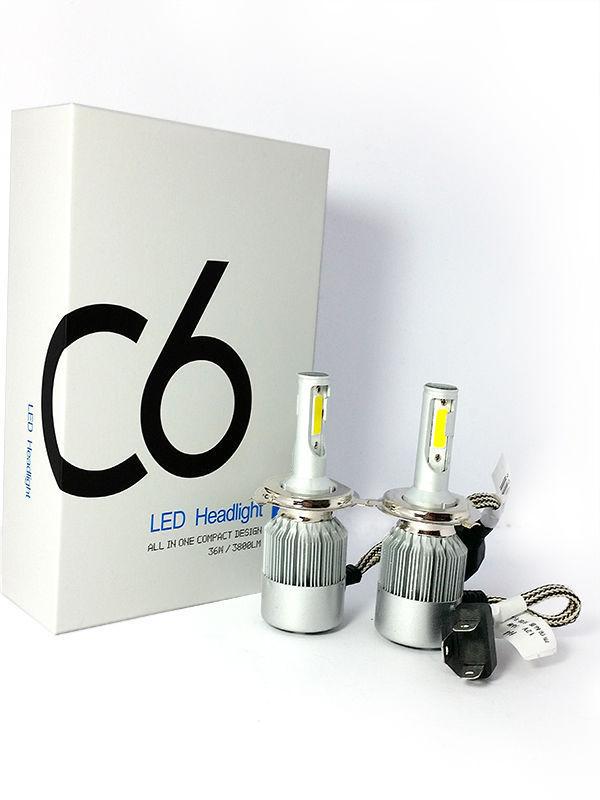 Coppia kit lampade luci LED auto Ford C-MAX fari H7 C6 7600LM 36w 6000k COB