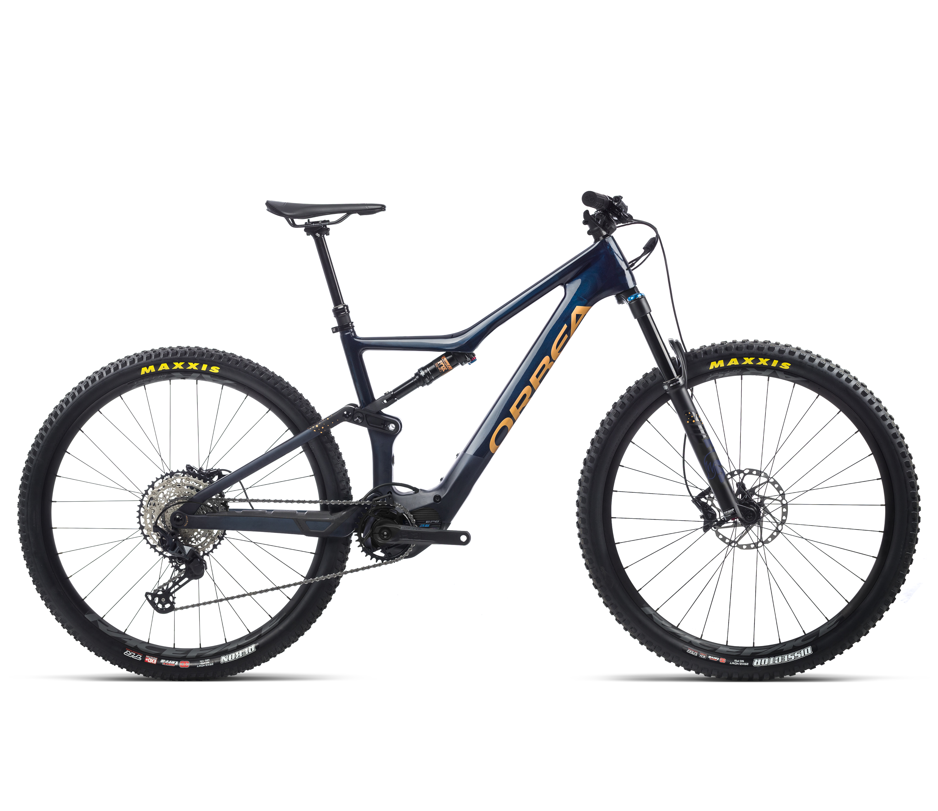 Orbea Rise M20 - Coal Blue - Red Gold