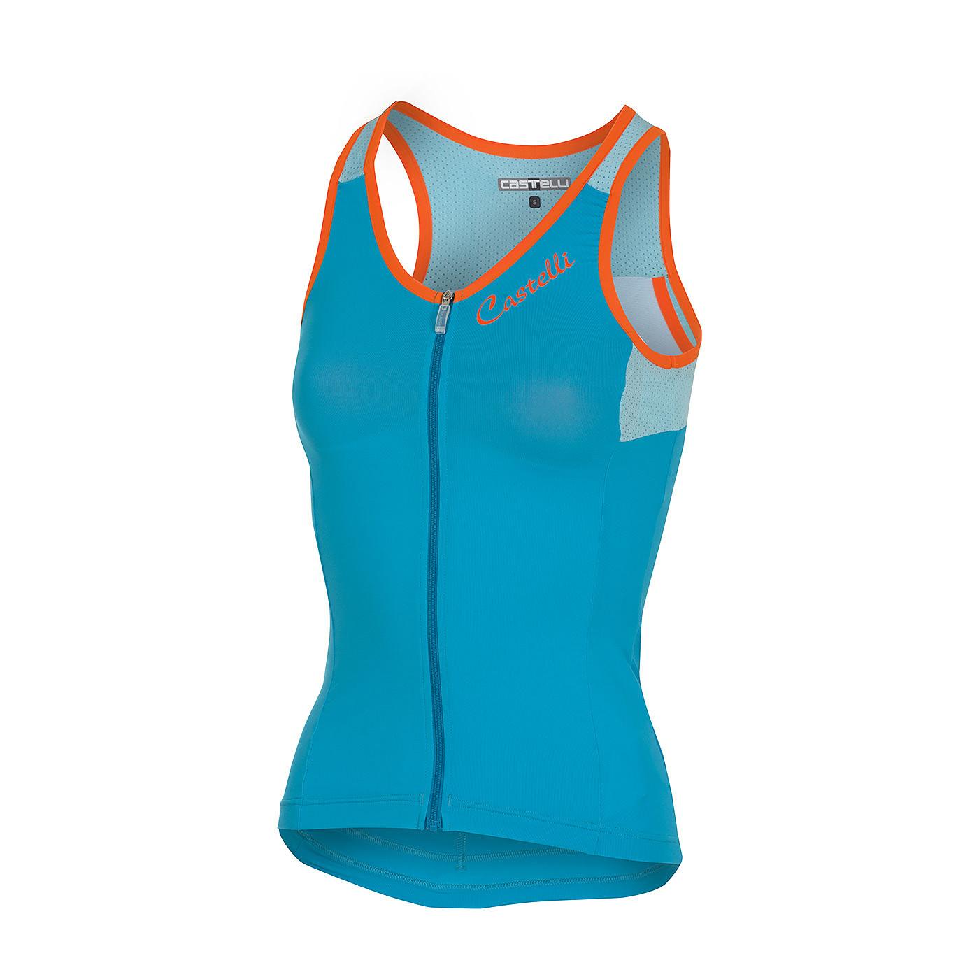 Castelli Maglia ciclismo donna - senza maniche 2018 Solare Sky Blu-Gla