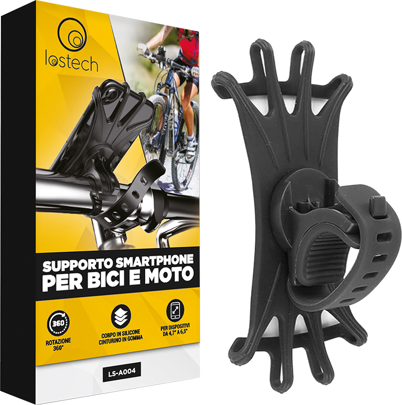 lostech supporto universale smartphone per bici e moto