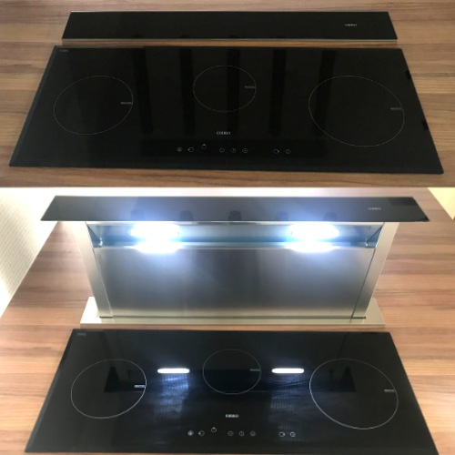 OBRO DOWNDRAFT COOKER HOOD & INDUCTION HOB SINGAPORE  House of Countertops