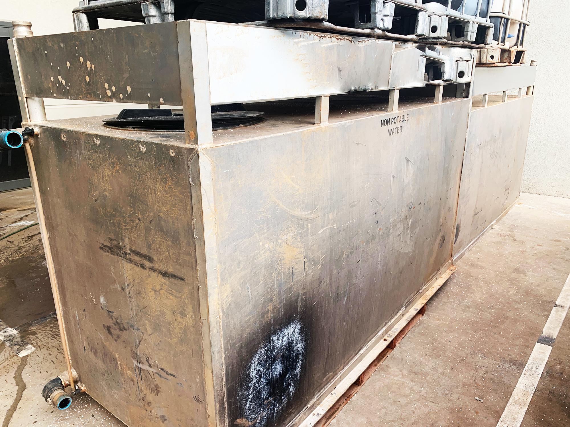 Aluminium water tank