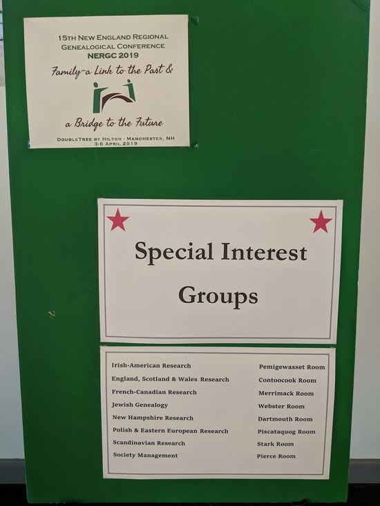There were Special Interest Group meetings for French-Canadian, Polish, Irish, and many other groups.