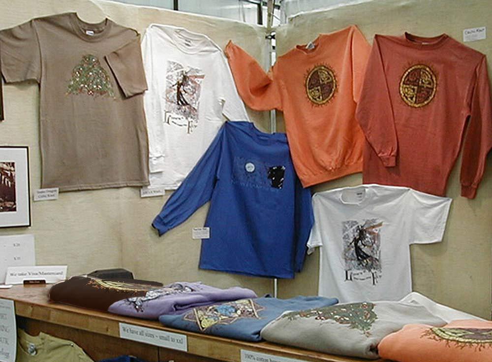 Celtic Batik T-Shirts and Art - BatikShirtShop- art show booth