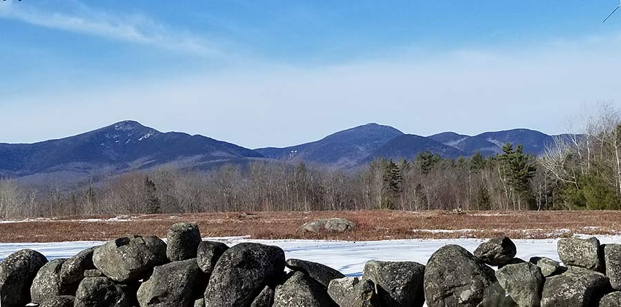 Whiteface and Passaconaway mountains in New Hampshire