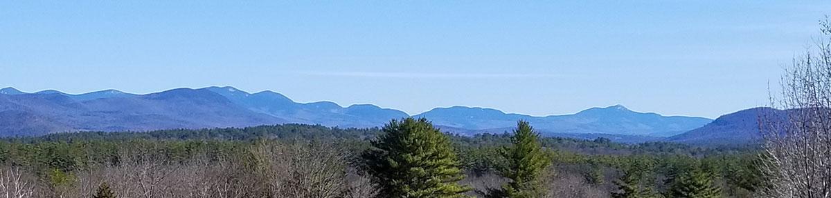 Mountain vista in New Hampshire