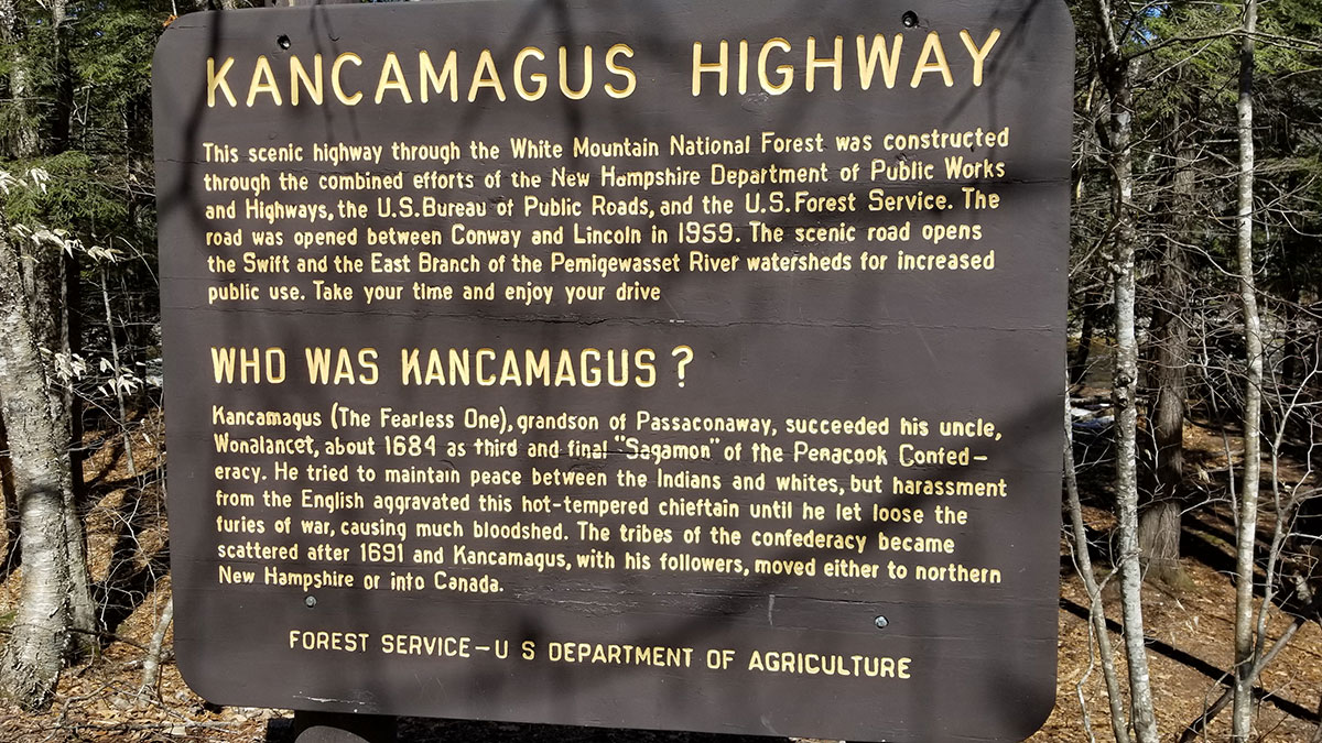 Who was Kancamagus? sign