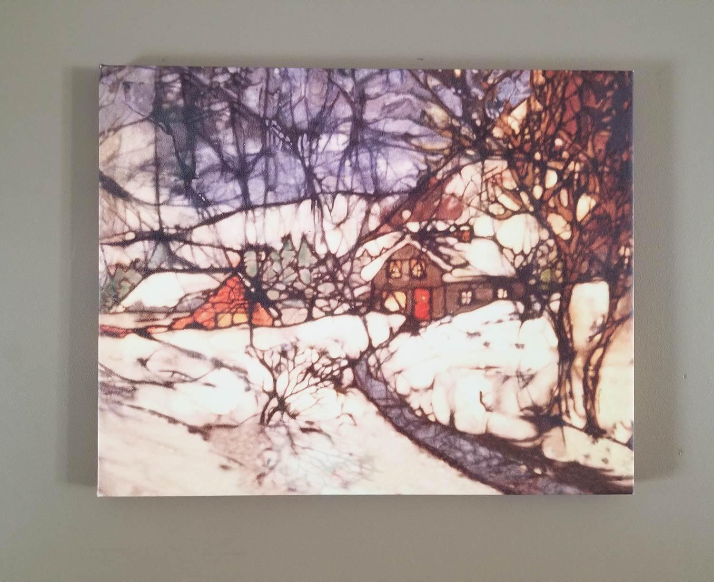 Ruthellen Kellogg Winter House Batik print