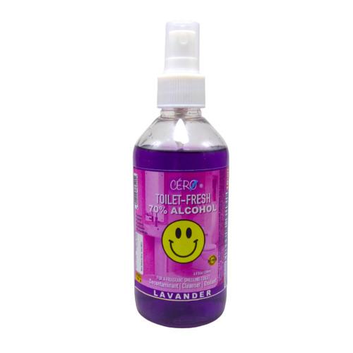 CERO Toilet Fresh 70% Alcohol – LAVANDER Perfumes Toilet Decontaminant Cleanser (200ml)