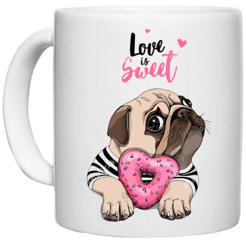 Pug & Doughnut | Love is Sweet