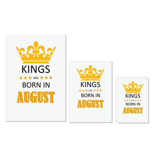Birthday | Kings are born in August