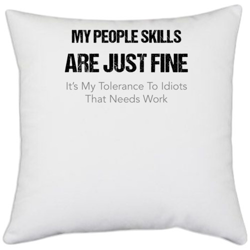 My people skills are just fine its my tolerance to idiots