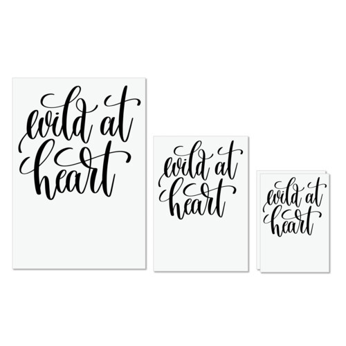 Calligraphy | Wild at Heart