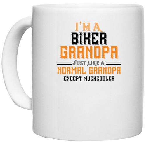 Papa, Father   i'm a biker grandpa just like a normal grandpa except muchcooler